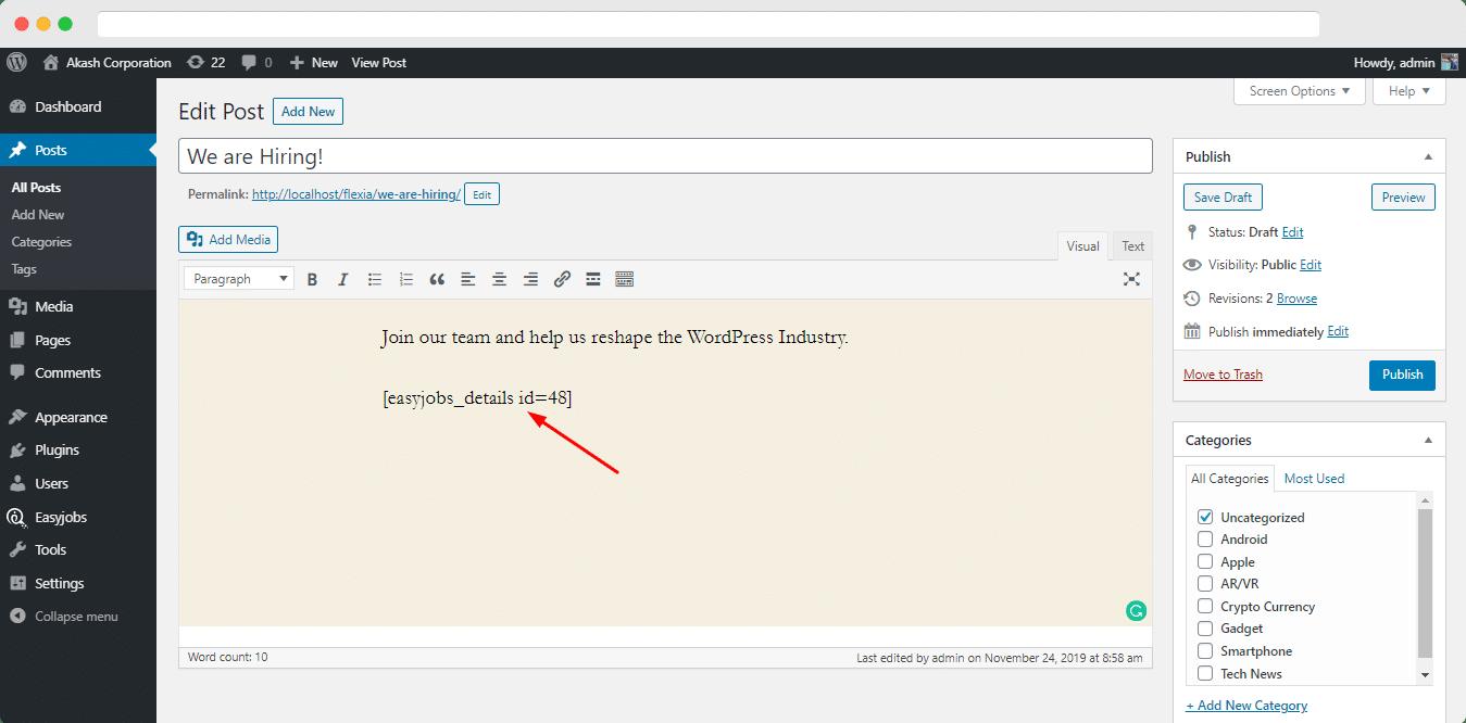 usare codici brevi