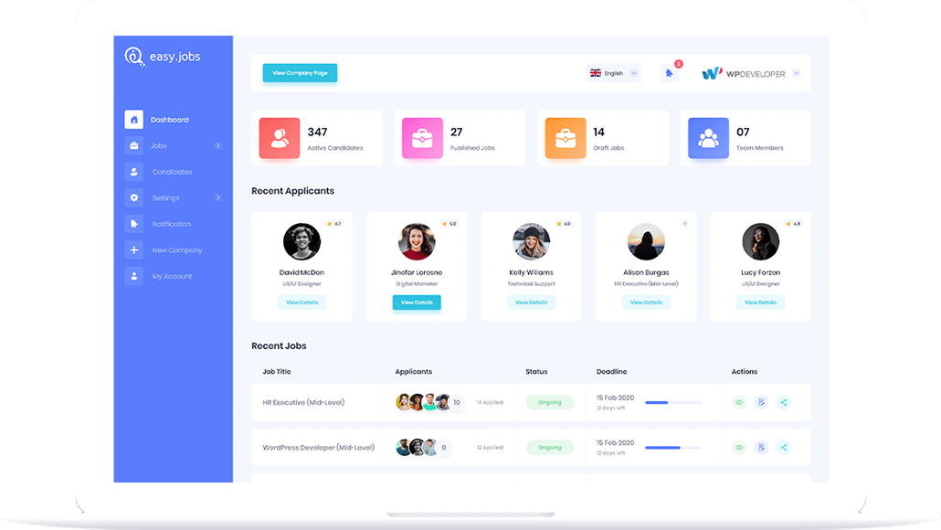 easy.jobs - remote hiring SaaS