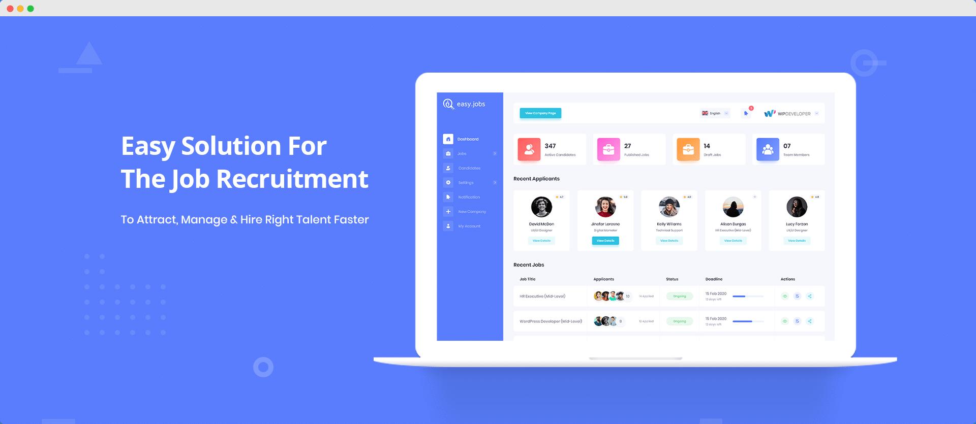 Quoi de neuf dans Easy.Jobs 2.0: interface utilisateur repensée, plugin WordPress et plus