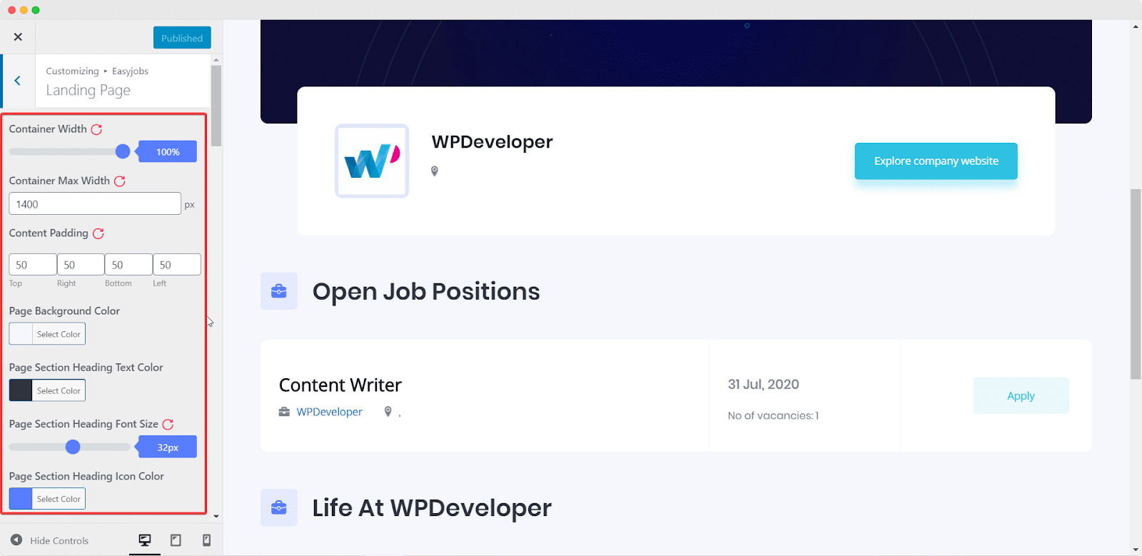 Easy.Jobsを使用して5分で見事なキャリアサイトを作成[無料] 7