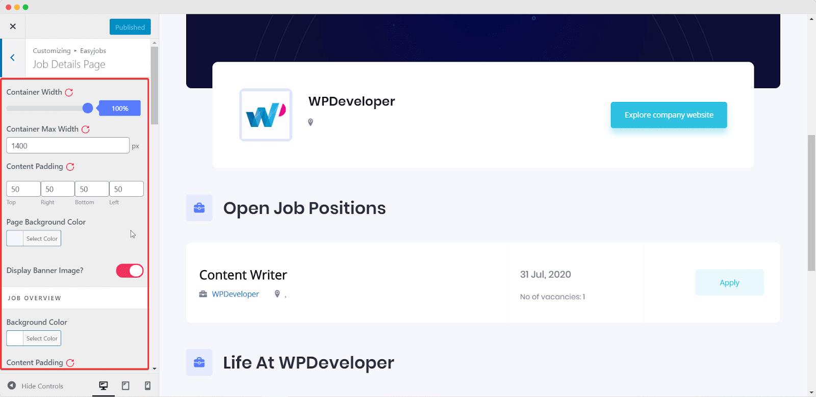 Easy.Jobsを使用して5分で見事なキャリアサイトを作成[無料] 8