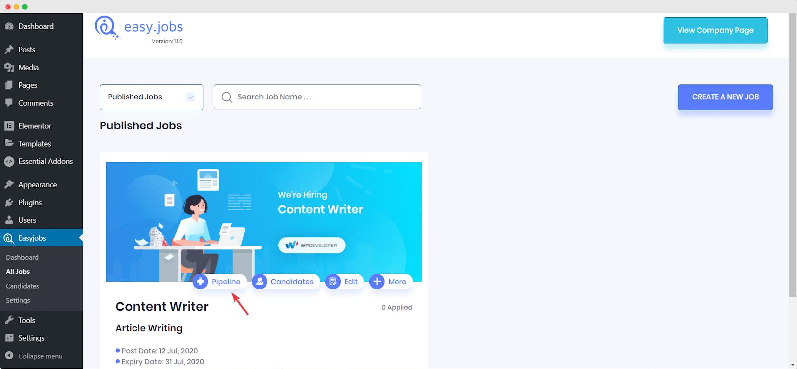 Easy.Jobsを使用して5分で見事なキャリアサイトを作成[無料] 9