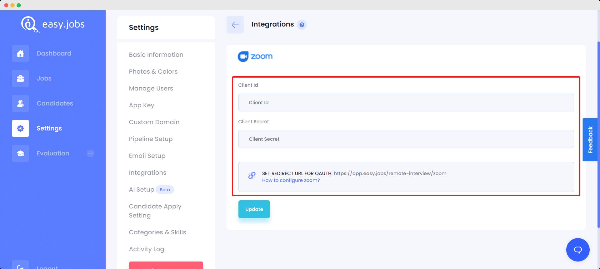 Zoom App Easy.Jobs