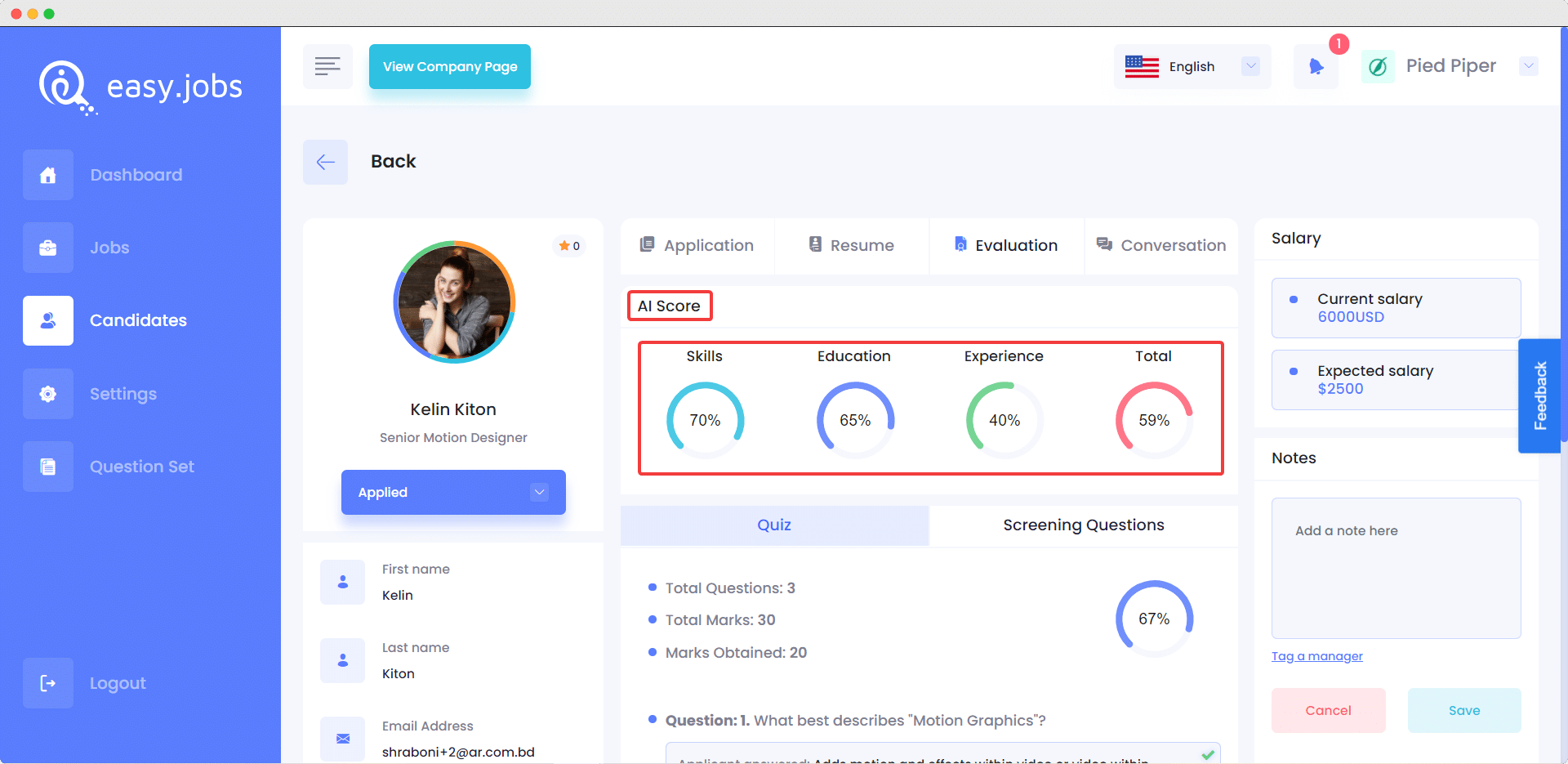 Introducing Easy.Jobs AI: Implement AI For Recruitment Strategy 1
