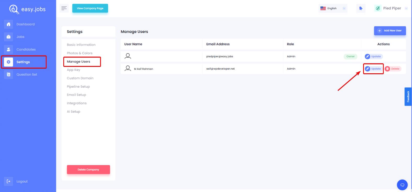 Hvordan oppdatere brukervarsler i Easy.Jobs? 1