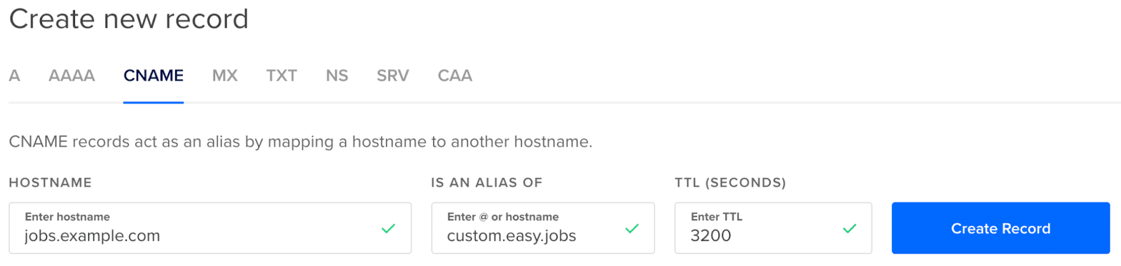 custom domain easy.jobs