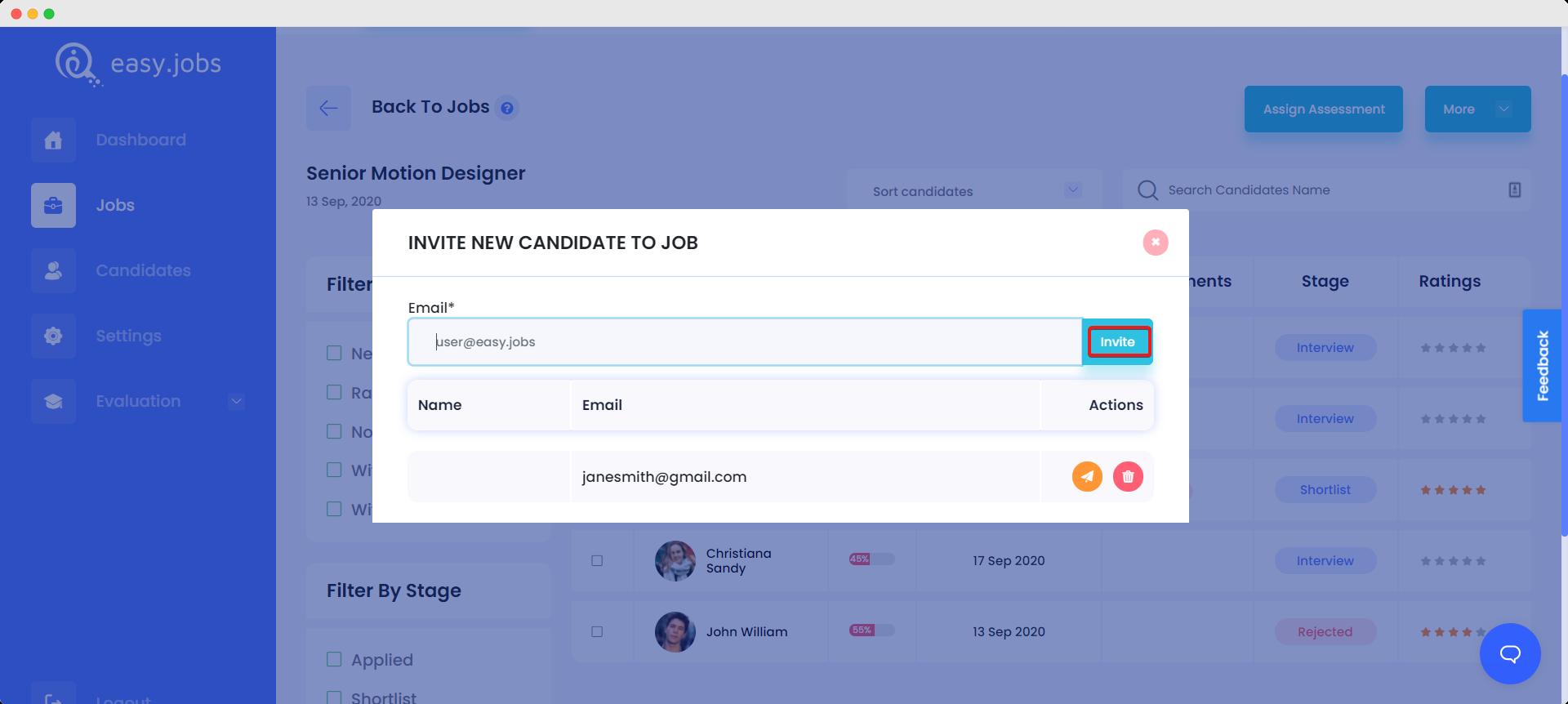 add candidates manually