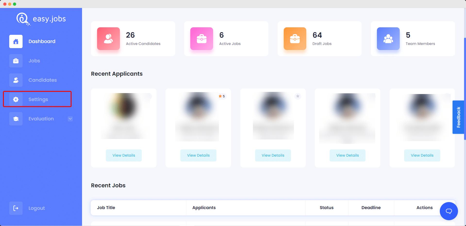 Show Job Filter