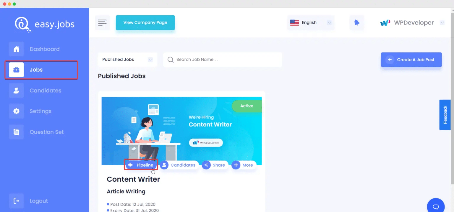 Setup Remote Interview Easy.jobs
