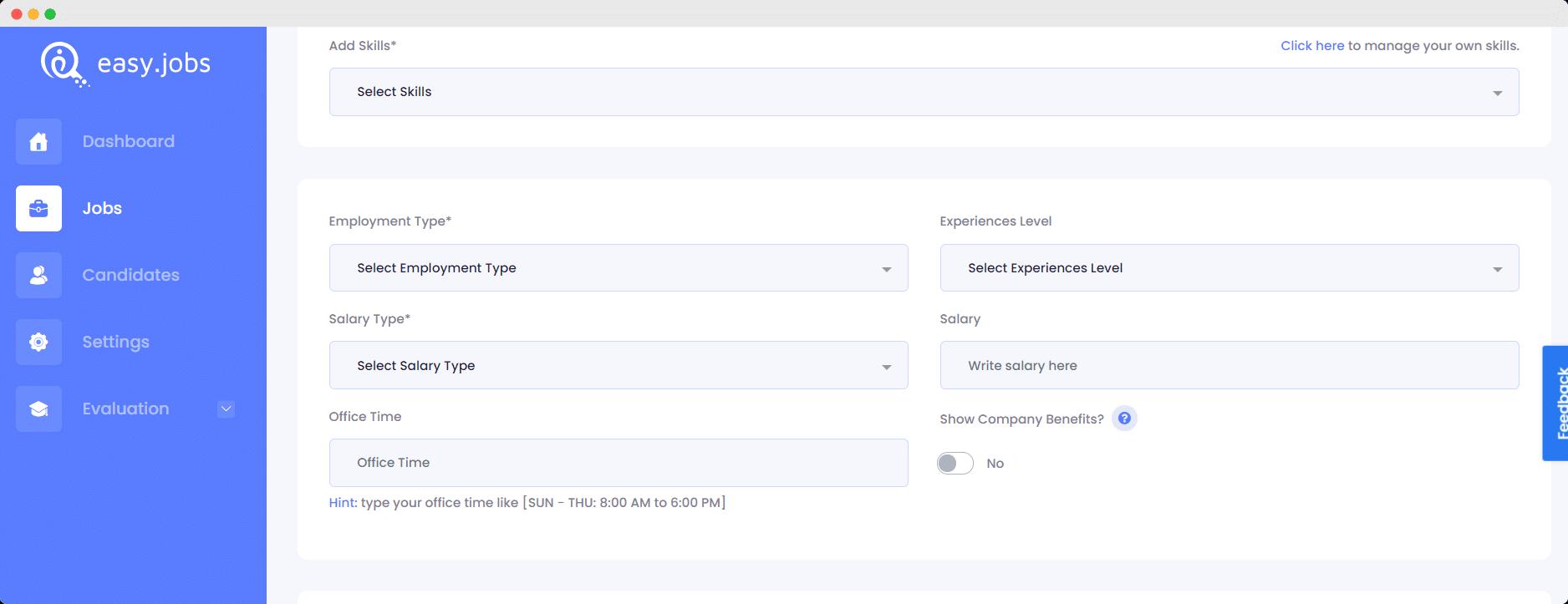 Job Posting Example Easy.Jobs