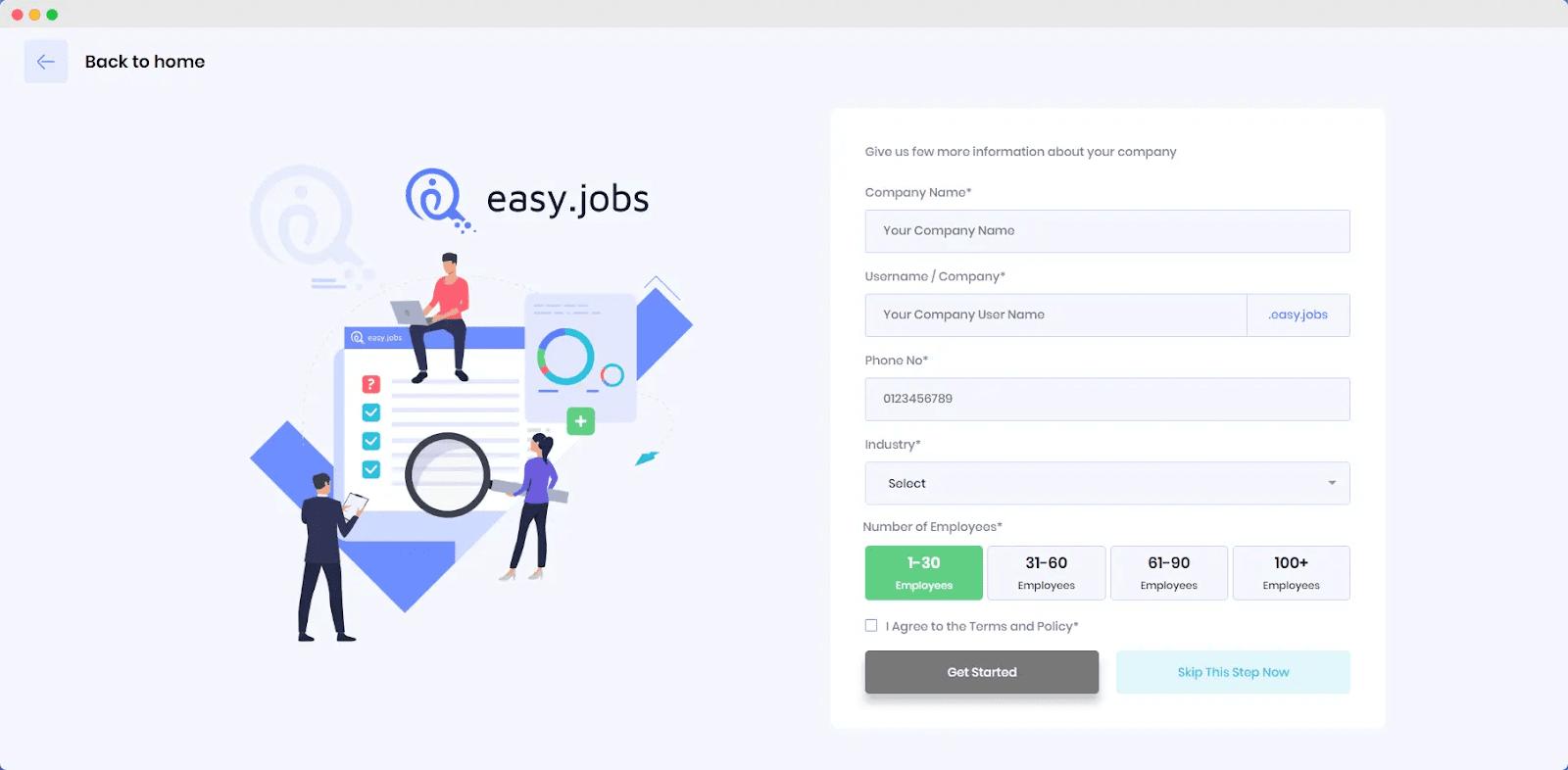 Analytics dashboard easy.jobs