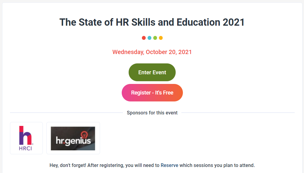 upcoming HR conferences